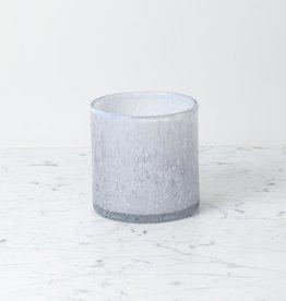 "Henry Dean Handblown Cylinder Vessel - Nebelung - Blue - 6"""