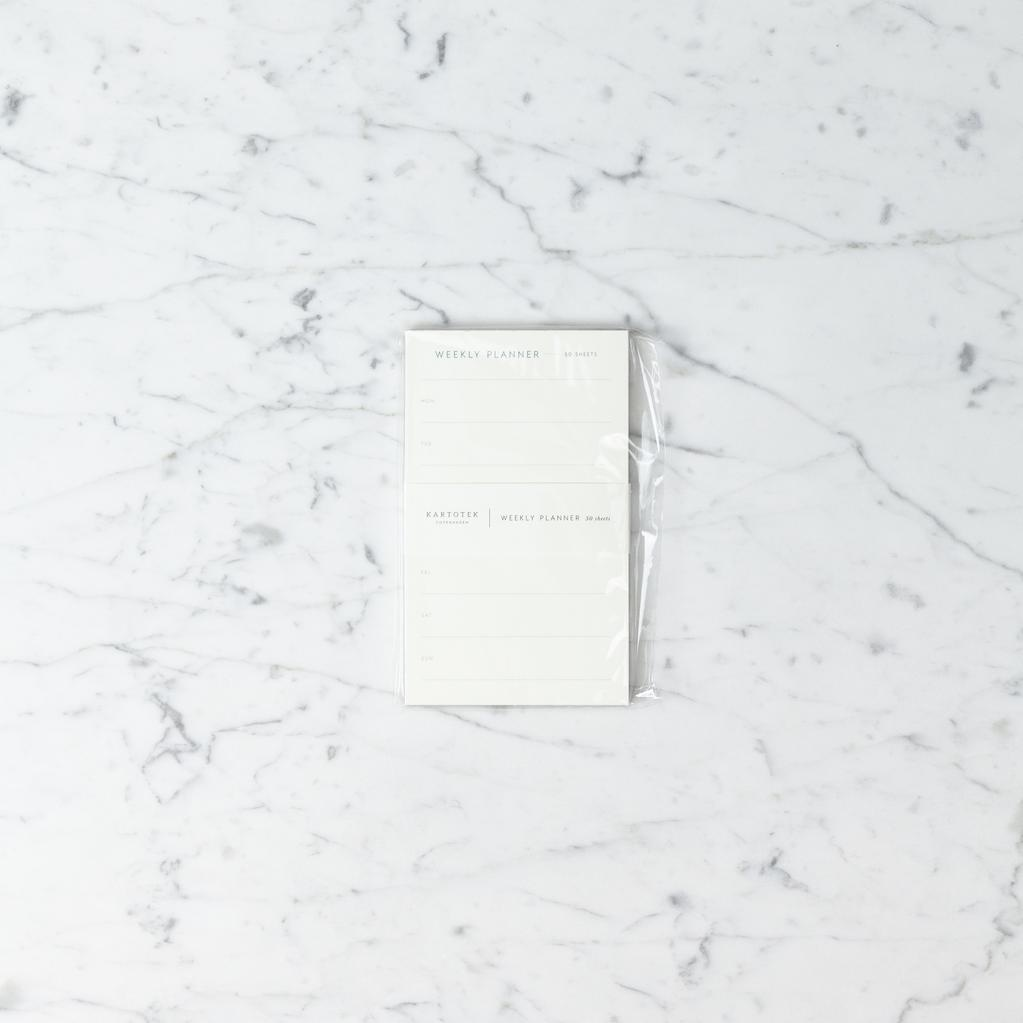 Kartotek Simple Danish Weekly Planner Pad - Slim - 3.75 x 6 in