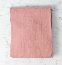 Linge Particulier Washed French Linen Baby Crib Fitted Sheet - Lytchee Pink - 28 x 55 x 6 in