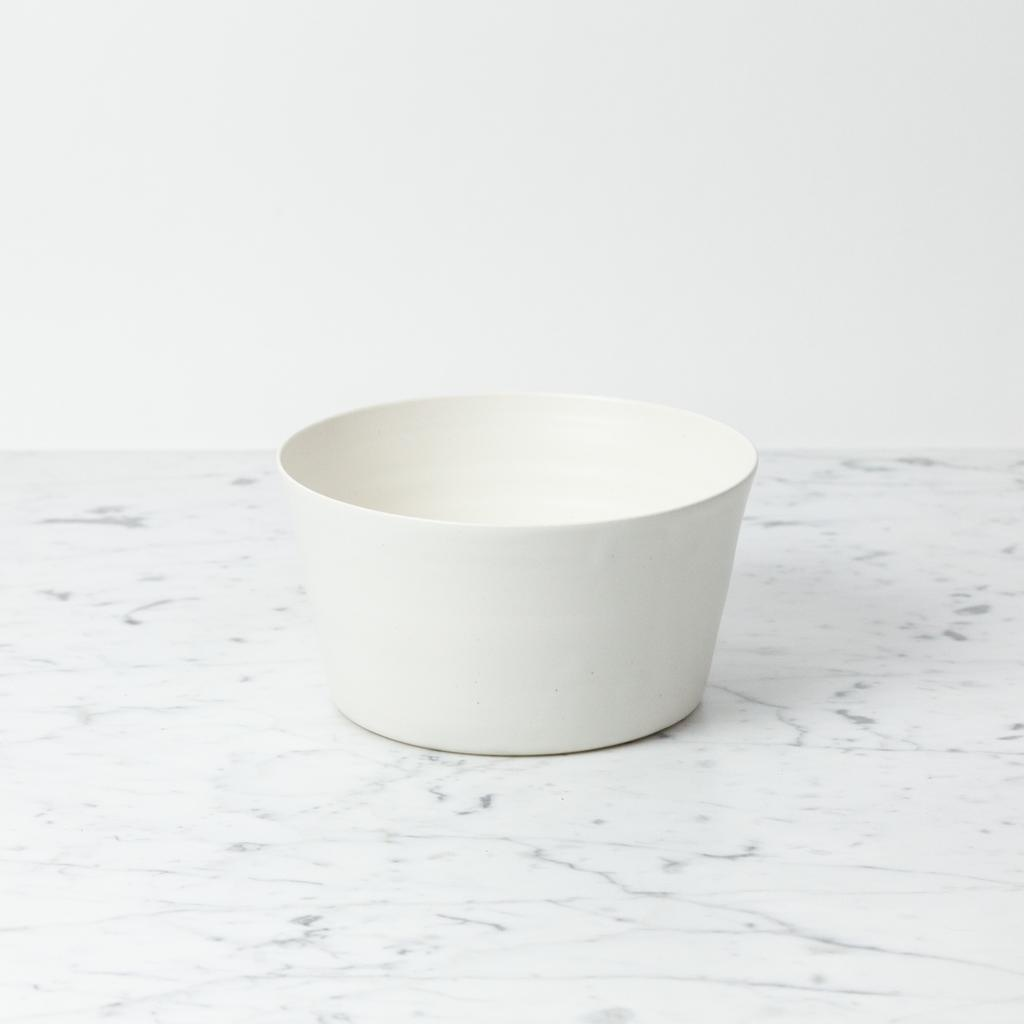 Tracie Hervy Wheel Thrown Straight Bowl - 7 in - Silky White Porcelain