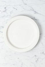 Tracie Hervy Wheel Thrown Salad Plate with Wide Lip - 7.5 in - Silky White Porcelain