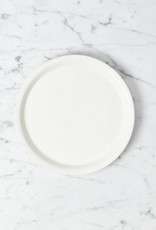 Tracie Hervy Wheel Thrown Salad Plate with Slim Lip - 10.5 in - Silky White Porcelain