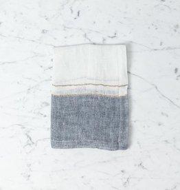 Belgian Linen Napkin - West Hinder Bastion Stripe - 16 x 16 in