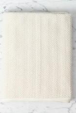 Herringbone Cotton Bath Towel - Large - Cream