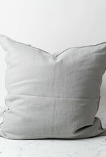 Belgian Linen Napoli Down Pillow - Fog - 25 x 25 in