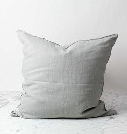 Belgian Linen Napoli Down Pillow - Fog - 25 x 25 in