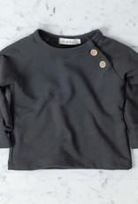 Mabo Kids Organic French Terry Sweatshirt - Graphite - 12 Month