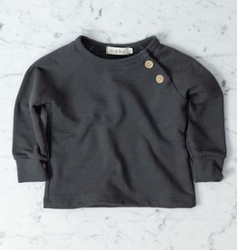 Mabo Kids Organic French Terry Sweatshirt - Graphite - 12 Month