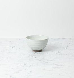 Japanese Kohiki Ceramic Matcha Bowl - White - 4.5in