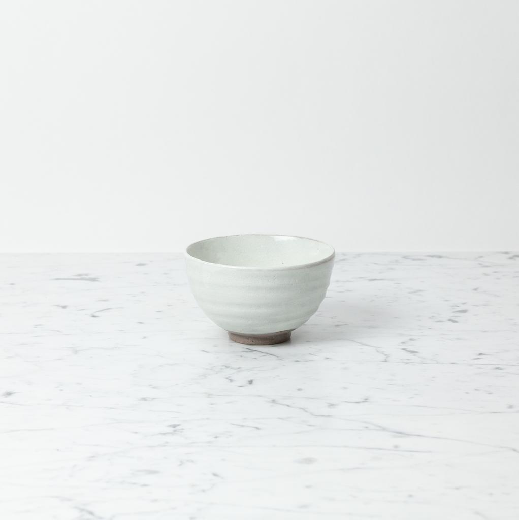 Japanese Kohiki Ceramic Matcha Bowl - White - 4.5in