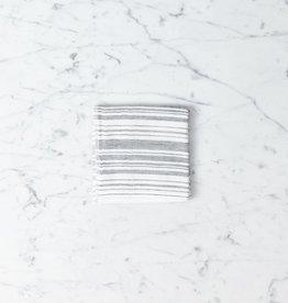 Shirt Stripe Mini Towel - Black Stripes