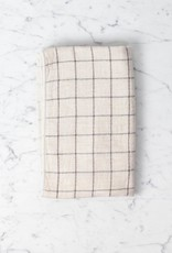 Japanese Grid Check Graph Hand Towel - Earl Grey