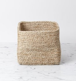 The Dharma Door Square Small Jute Basket - Natural - Wide 7 x 7 x 6