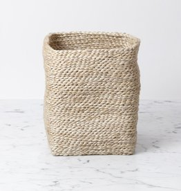 "The Dharma Door Moroccan Jute Tall Storage Basket 7.5"" H x 6"" W (approx.)"