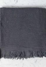 Thalassa Home Caria Soft Waffle Turkish Cotton + Bamboo Bath Towel - Charcoal - 32 x 60 in