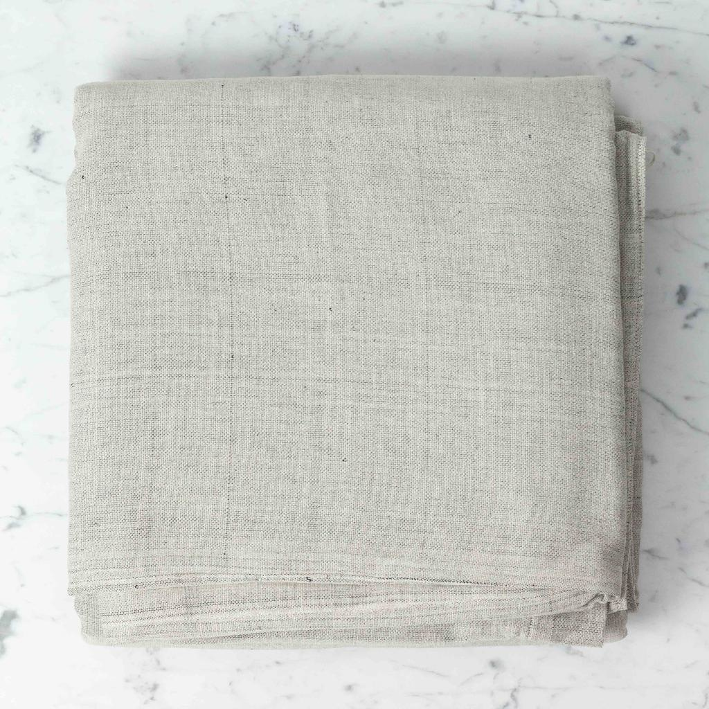 TENSIRA Handwoven Cotton Duvet Cover - Button Closure - Pale Grey -  Full - 79 x 79 in