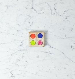Beam Paints Natural Pigment Handmade Watercolor Paintstones - Zaam G'chi'inaandek - Bright Primary Colors