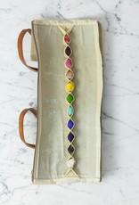 Beam Paints Natural Pigment Handmade Watercolor Paintstones - Tis'gan 11 Color Set in Waxed Canvas Travel Case