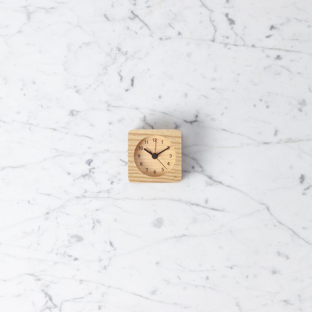 Rest Wood Alarm Clock - Natural