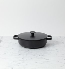 Crane Crane Cast Iron Shallow Saute Pan with Lid