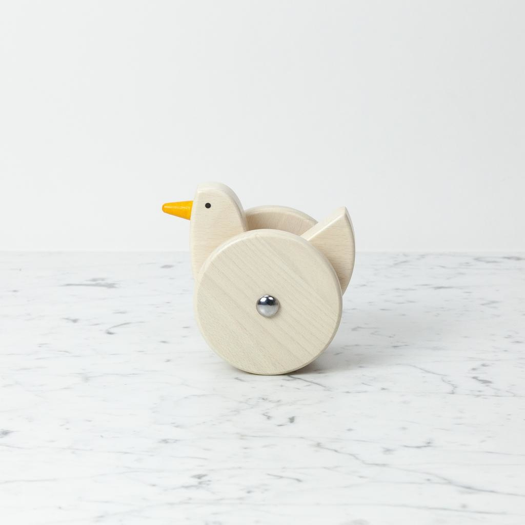 Bajo Toys Wooden Wobbling Chicken - Natural White
