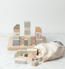 Bajo Toys Stacking Wooden Cityscape Block Set - 54 Pieces