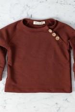 Mabo Kids Organic French Terry Sweatshirt - Chestnut - 2/3 Year