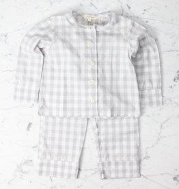 Mabo Kids Harper Gingham PJ set - Grey - 2/3 Year