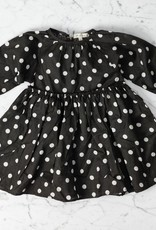 Mabo Kids Georgie Polka Dot Dress - Brown - 2/3 Year