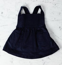 Mabo Kids Annie Pinafore - Navy Corduroy - 2/3 Year
