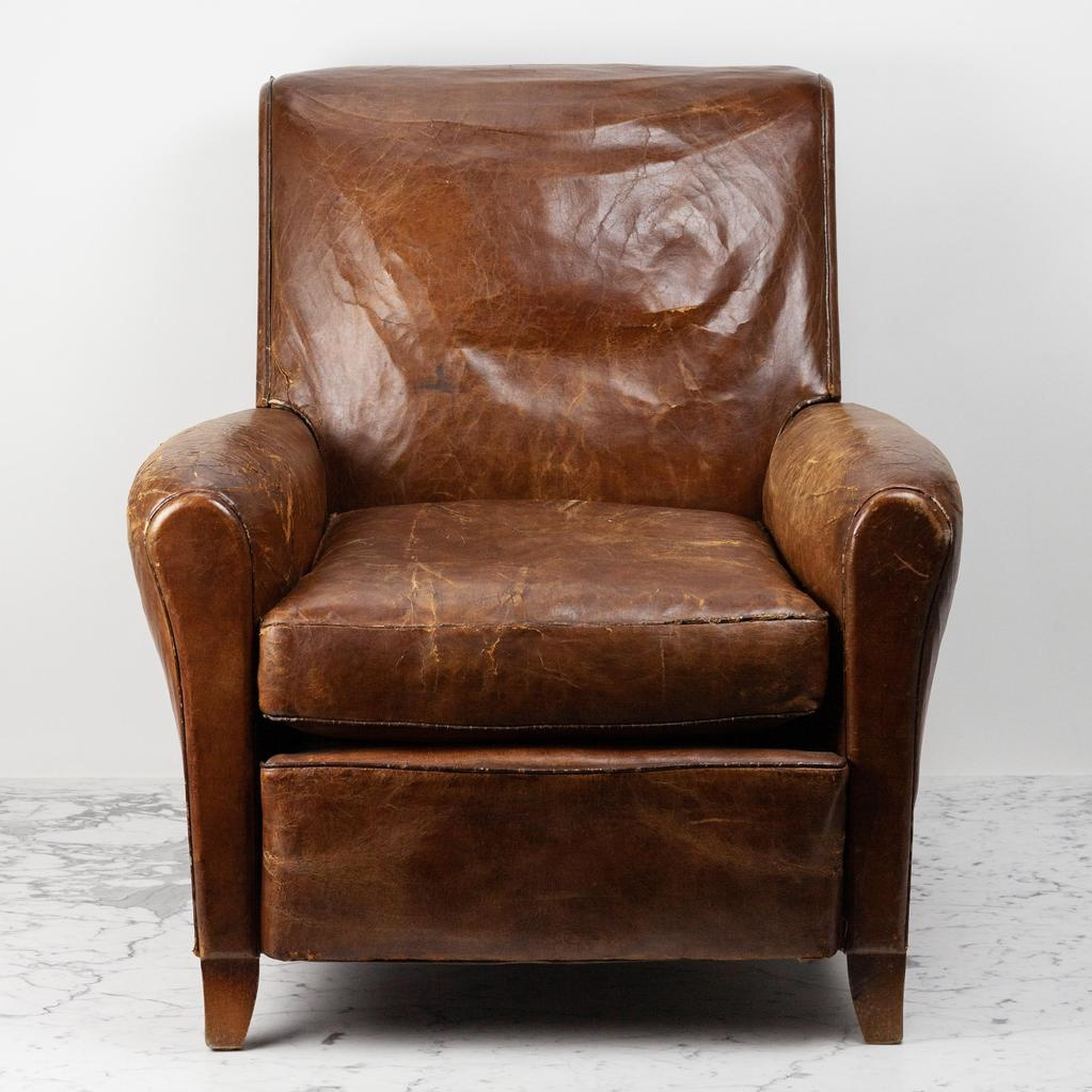 The Foundry Home Goods Foundry Vintage + Antique Pieces - Leather Chairs - Set of 2