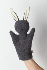 Ouistitine Handmade Bunny Hand Puppet - Grey