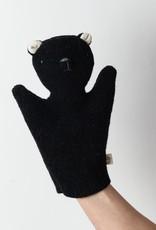 Ouistitine Handmade Bear Hand Puppet - Black + White