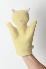 Ouistitine Handmade Cat Hand Puppet - Yellow