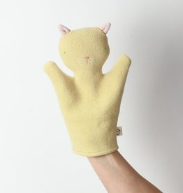 Ouistitine Handmade Cat Hand Puppet - Yellow