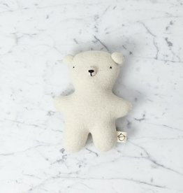 Ouistitine Handmade Wool Soft Gentle Bear - Cream White