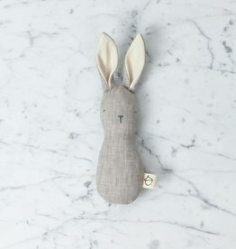 Ouistitine Minimalist Soft Bunny Rattle - Ecru