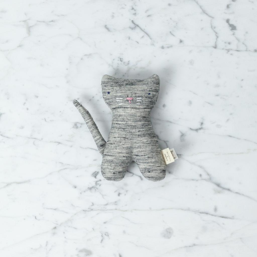 Ouistitine Didi the Fabulous Cat Soft Toy - China Grey