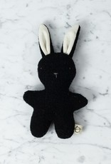 Ouistitine Handmade Soft Gentle Bunny - Black + White