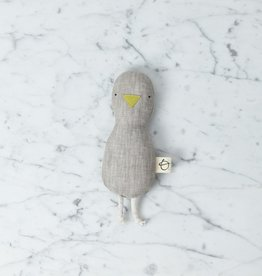 Ouistitine Soft Little Bird Rattle - Ecru