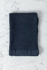 Vintage Waffle Hand Towel - Navy