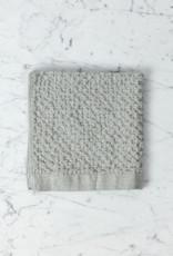 Lattice Waffle Washcloth - Cotton + Linen - Ice Grey