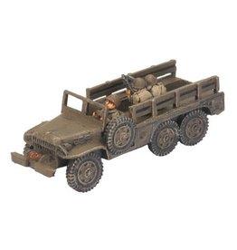 Flames of War US420 Dodge 1_-ton truck (x2)