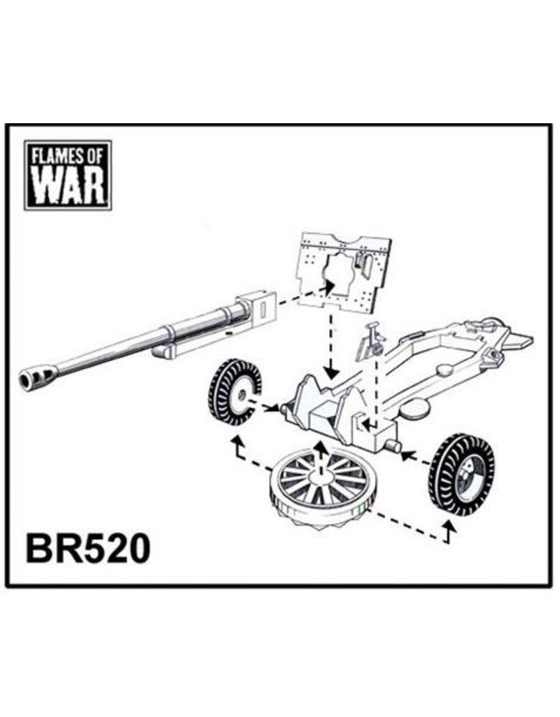 Flames of War BR520 17/25 pdr gun (x2)