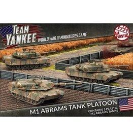 Team Yankee TUBX01 M1 Abrams Tank Platoon (plastic)