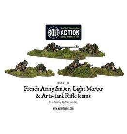 Bolt Action BA French Army: Sniper, Light Mortar & AT Rifle Teams