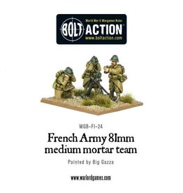 Bolt Action BA French Army: 81mm Mortar Team