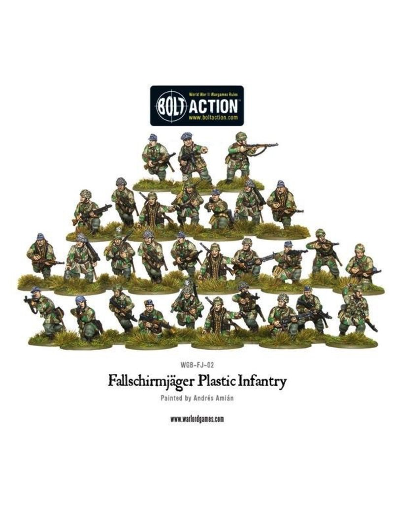 Bolt Action BA German Army: Fallschirmjager (Plastic)