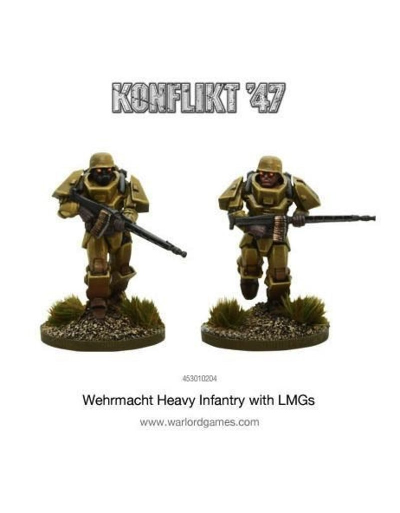 Bolt Action German Heavy Infantry with LMGs