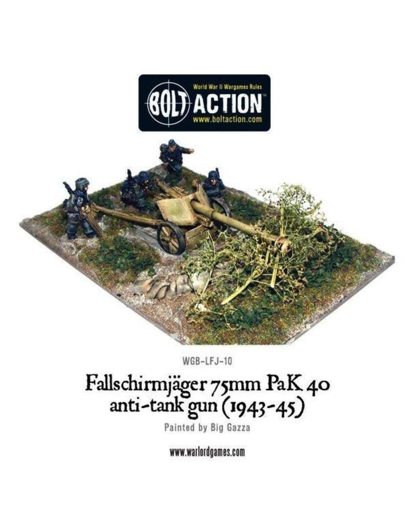 Bolt Action BA German Army: Fallschirmjager 75mm PaK 40 Anti-tank Gun (1943-45)